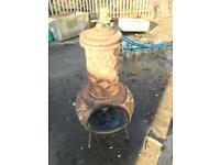 Large Terracotta woodburner