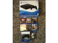 Sony Ps4 Black Slimline 500gb bundle with 7 games