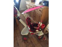 Childs Smart Trike - in very good condition. With safety harness and sun shade