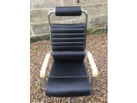 Office swivel chair black leather