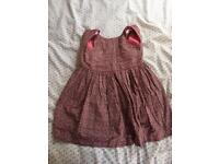 Girls pink party dress.