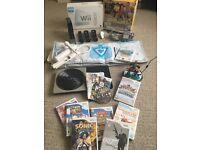 MASSIVE BUNDLE - Wii Console + Wii Plus Controller + Dance Mat + DJ Turntable + 9 Games + More
