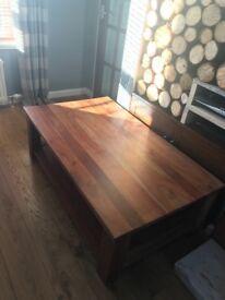 DFS Solid Walnut Coffee Table