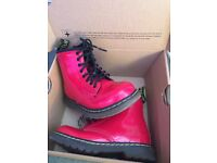 Kids red dr martens size 8