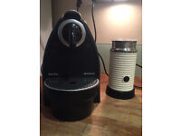 NESPRESSO MACHINE WITH SEPERATE ELECTRIC MILK FROTHER