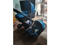 Teal mothercare car seat from birth to 9 months
