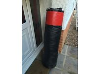 Punch Bag with Gloves and Hanging Chain
