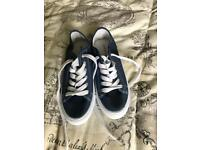 Denim canvas pumps size 6