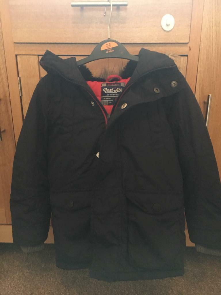 ca80fc9a5 Boys Next Navy Blue Winter Coat Aged 4