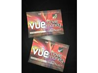 Vue cinema tickets for sale (Valid until 31/01/17)