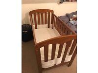 John Lewis Rachel Cot Bed plus mattress