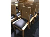 New solid wood chairs-£40 each