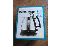 Dualit Kettle in canvas white (cream) never used