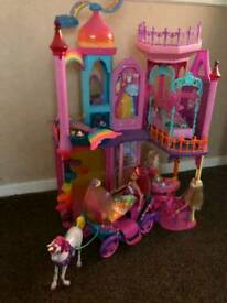 Barbie castle. Horse and carriage