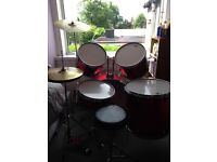 Drum kit and silencers