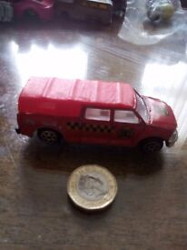 Small toy car.