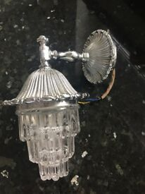 Wall Light - Polished Chrome Mounting with Lead Glass Crystal