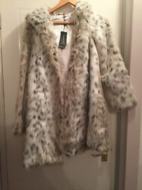 Faux fur coat (brand new)