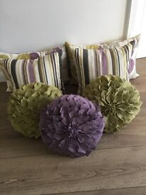 John Lewis 7 Matching Cushion Selection - Great Condition