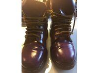 DM's Dr Marten's Vintage Air Wair Boots purple