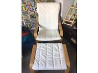 Ikea Poäng and matching footstool £50