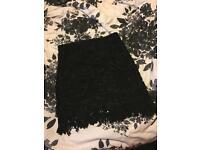 size 12/14 black lace skirt