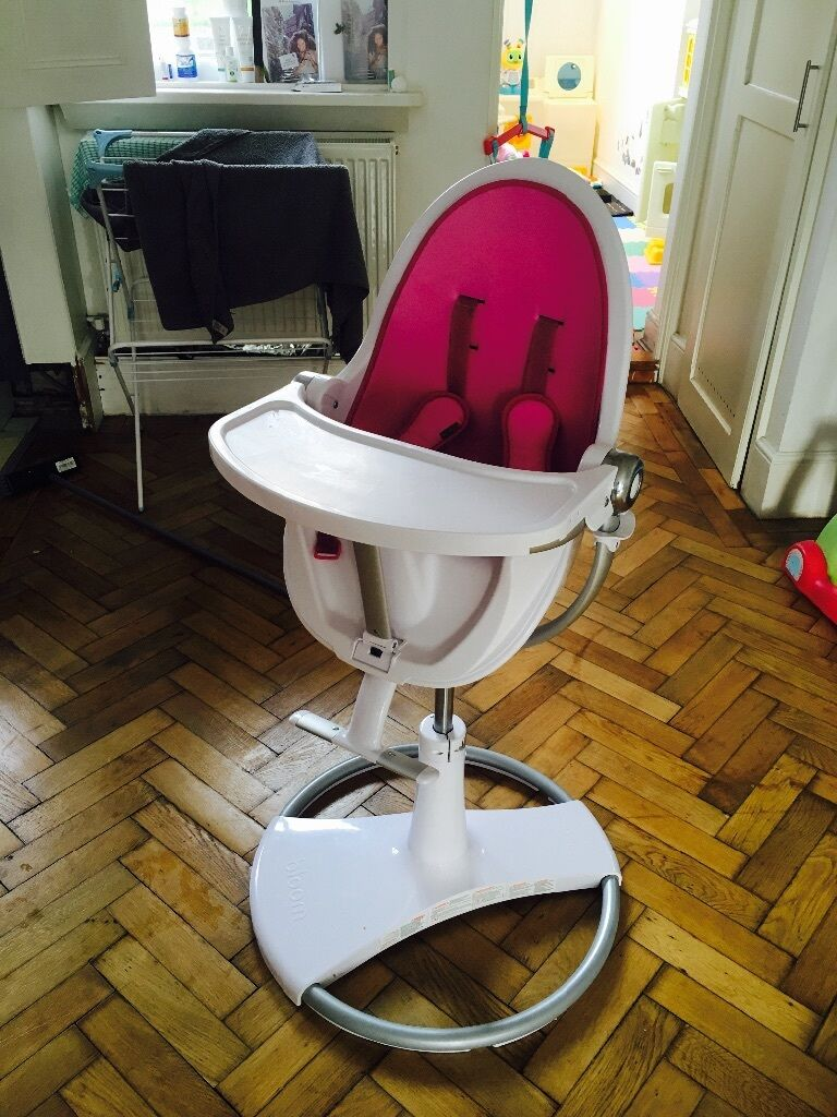 Bloom high chair chrome - Pink Bloom Fresco Chrome Highchair