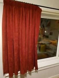 Curtains. 1 pair. Rich dark red
