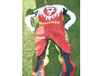 ONE PIECE TEXPORT DUCATI NO 7 LEATHERS SIZE 58