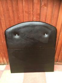 LEATHER SINGLE BED HEADBOARD HEAD BOARD WITH DIAMOND DESIGN STYLE