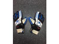 Uhlsport super grip surround finger surround goalkeeper glove size 10