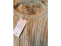 Brand new with tags jack wills ivory jumper
