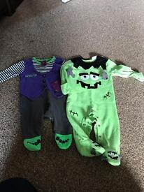 0-3 month Halloween baby sleep suits