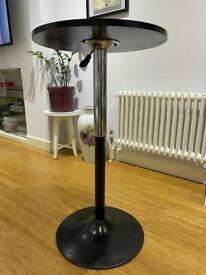 Round Cocktail Table Height Adjustable Black
