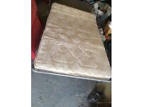 Mattress and bed mechanism for futon