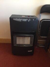 Calor gas heater with empty gas bottle. Make-Mason TM.