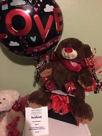 Black Box Valentine Bear Bouquet