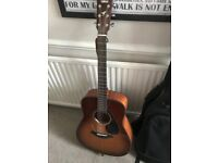 Yamaha FG700S Acoustic Guitar with case, strap and chord book, in excellent condition