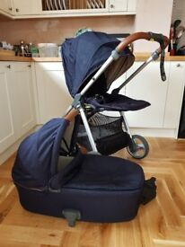 Mamas and Papas Armadillo Flip XT with carrycot and carseat adapters