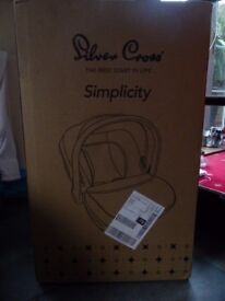 Silvercross Simplicity Car Seat - boxed and unopened