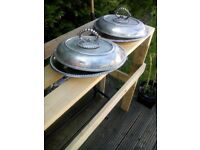 Heavy silver plated serving dish