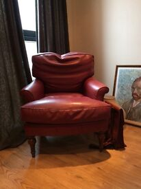 Red lounge chair for sale
