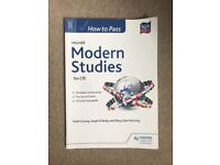 SQA how to pass higher modern studies