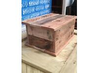 Handmade wooden box from reclaimed pallets