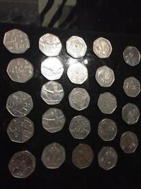 Rare 50p's 3.00 each