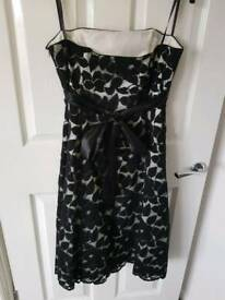 Cream and black dress, size 12