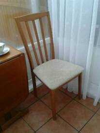 Two quality wooden dining chairs; ideal Christmas guests