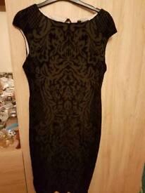 Black bodycon dress size 14