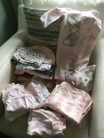 40 items of Bundle of baby girl clothes 6-9 months