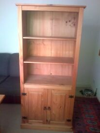 PINE DISPLAY CABINET/ BOOKCASE - similar to Dunelm corona display cabinet